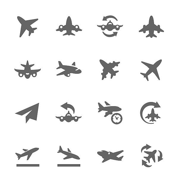 Planes Icons Simple Set of Planes Related Vector Icons for Your Design. airport clipart stock illustrations