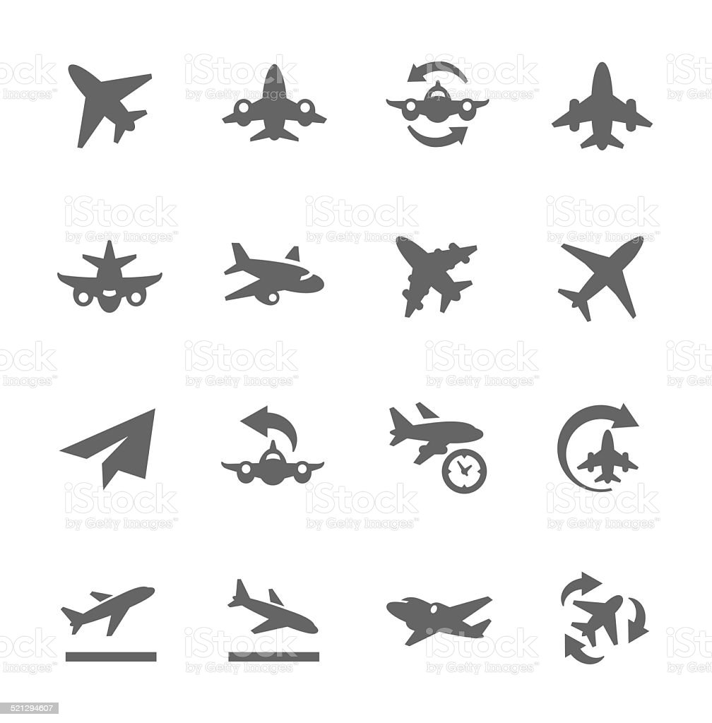 Planes Icons vector art illustration