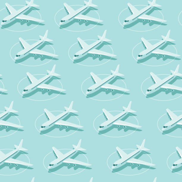 ilustrações de stock, clip art, desenhos animados e ícones de planes parked at airport. crisis of aviation industry during coronaviruscovid-19 outbreak. - covid flight