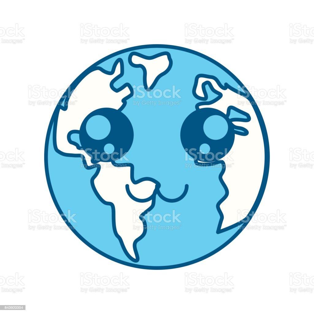 Ilustración De Dibujos De Animados De Planeta Tierra Y Más Vectores
