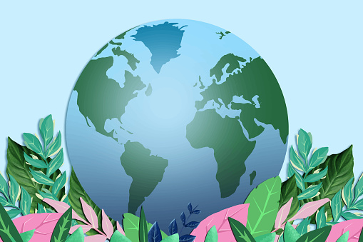 Planet Earth and nature. Save the planet