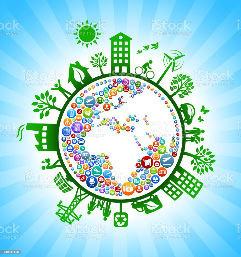 Planet Earth Business Green Environmental Conservation Background....