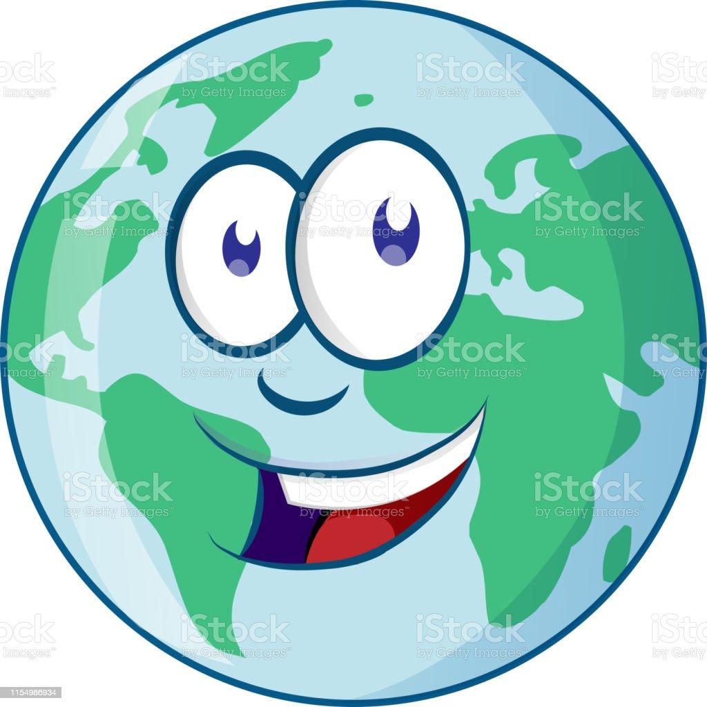 Personnage De Dessin Animé De Planète Terre Vecteurs Libres
