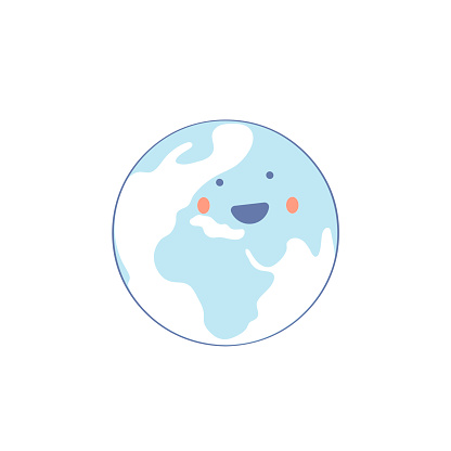 Planet Earth Character - Vector