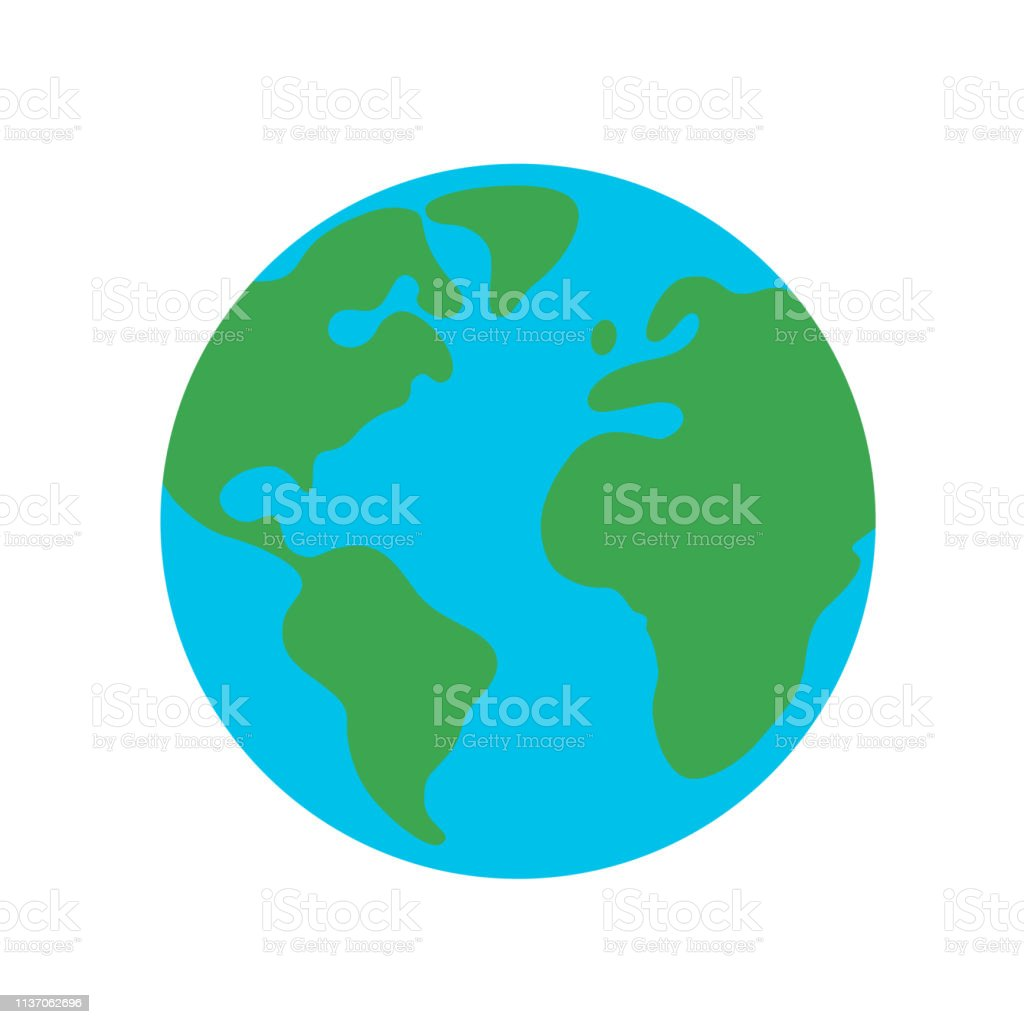 Planet earth globe flat design icon for web and mobile, banner, infographics. royalty-free planet earth globe flat design icon for web and mobile banner infographics stock illustration - download image now