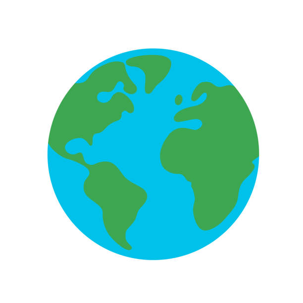 Planet earth globe flat design icon for web and mobile, banner, infographics. Planet earth globe flat design icon for web and mobile, banner, infographics. planet earth stock illustrations