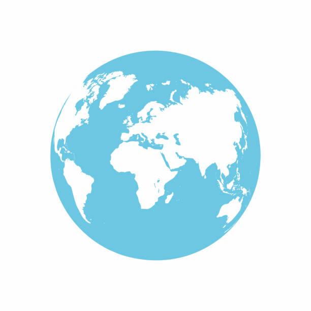 ilustrações, clipart, desenhos animados e ícones de ícone do planeta terra. globo terra isolado no fundo branco - globos