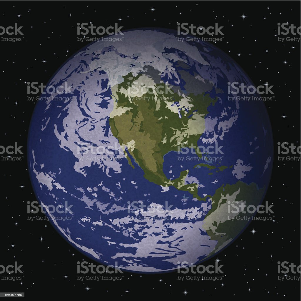 Planet Earth in space royalty-free stock vector art
