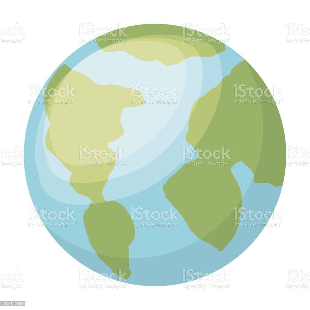 Planète Terre Isolé Dessin Icône Vecteurs Libres De Droits