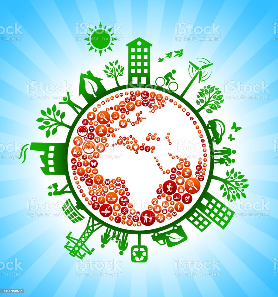 Planet Earth Summer Fun Green Environmental Conservation Background....