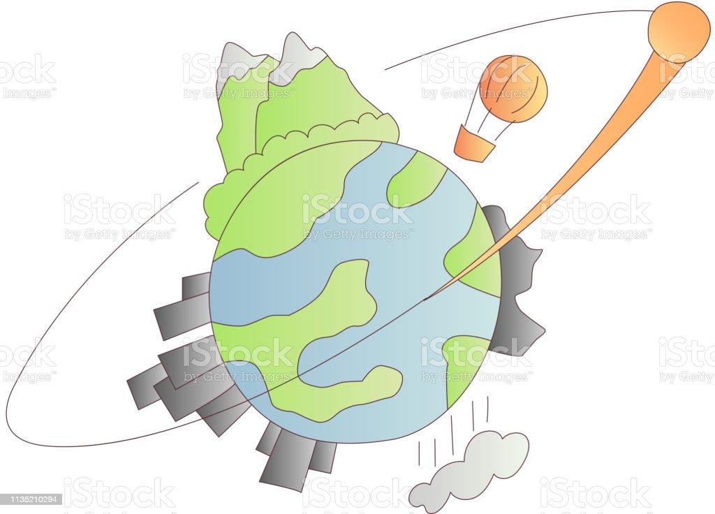 Icône De Dessin Animé De Planète Terre Vecteur Et