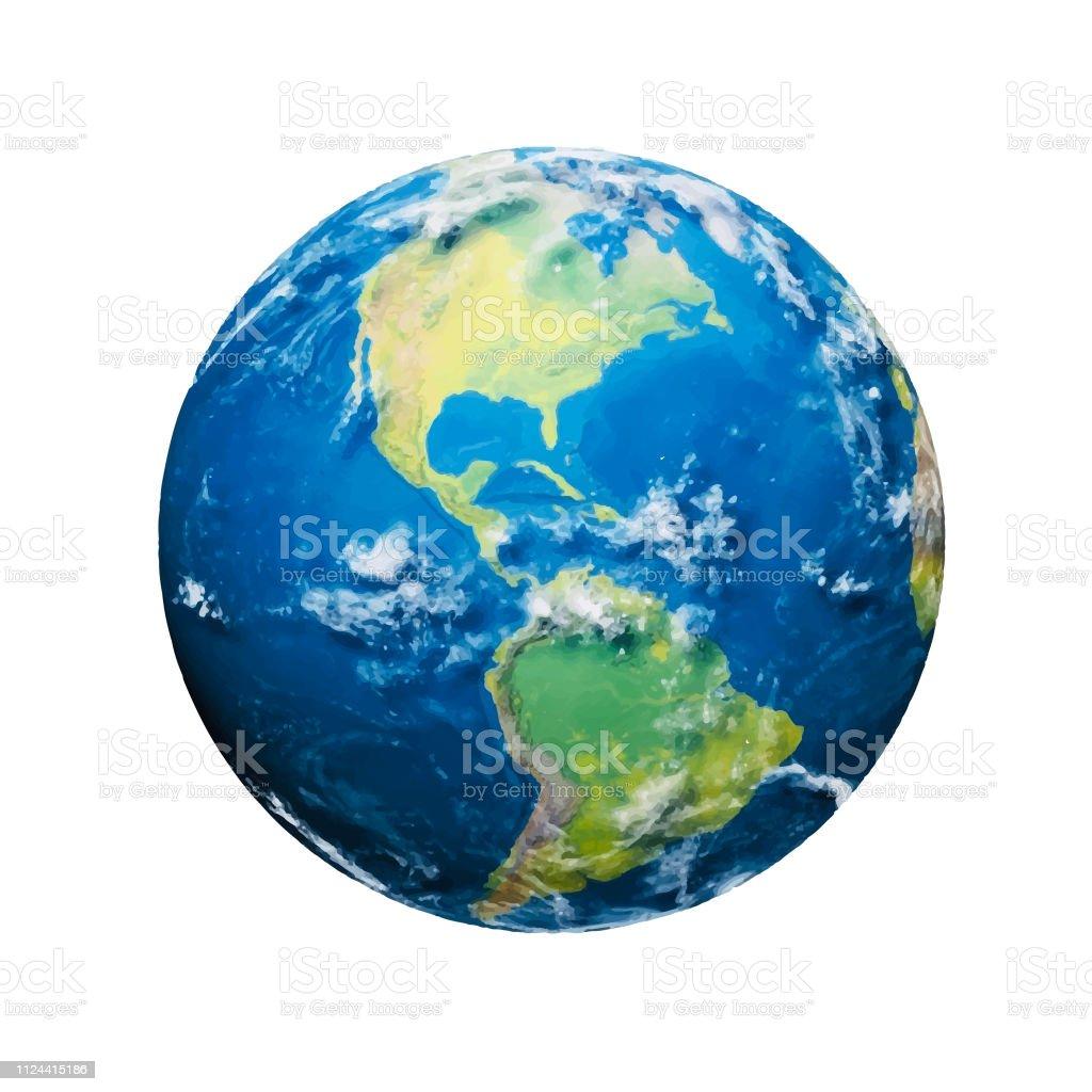 Planet earth - Royalty-free Aplicação móvel arte vetorial
