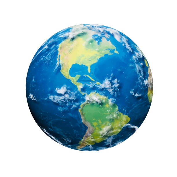 Planet earth Vector illustration of a realistic and colorful planet earth planet earth stock illustrations
