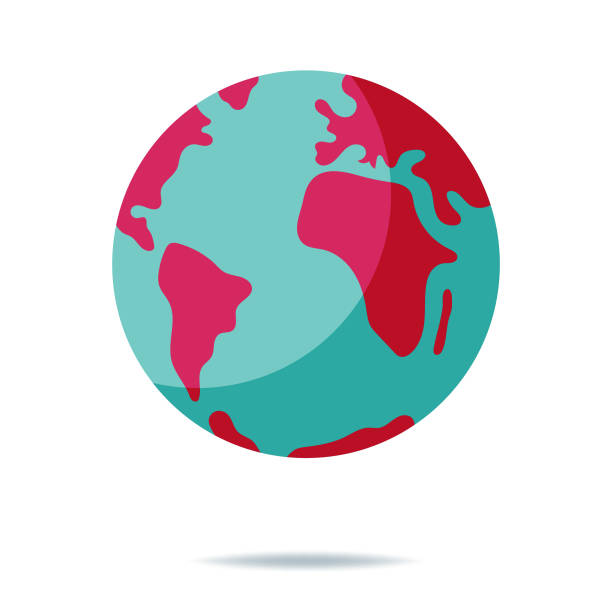 planet earth - world map stock illustrations, clip art, cartoons, & icons