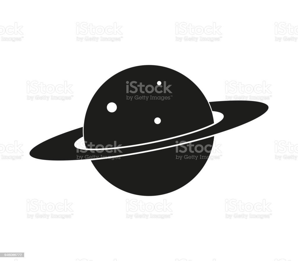 planet icon vector art illustration