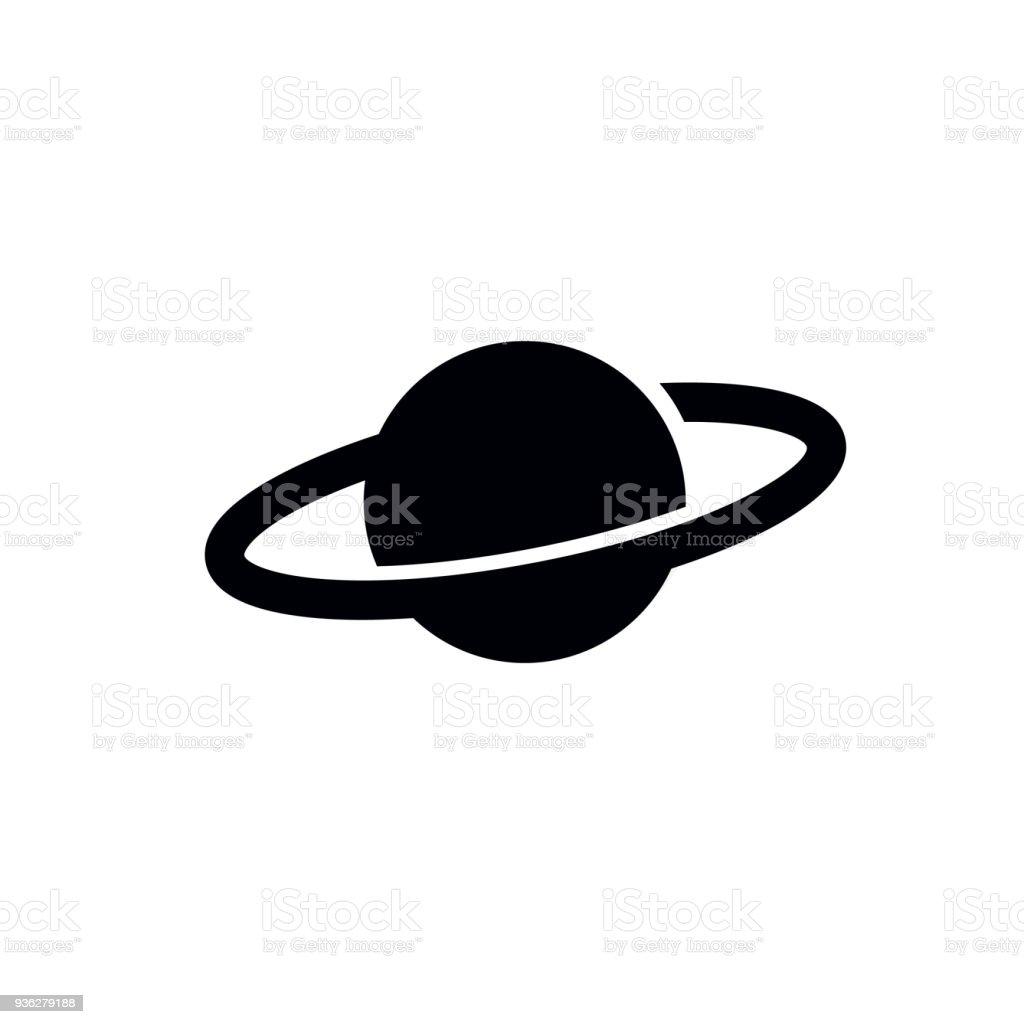 Planet Icon - vector illustration.