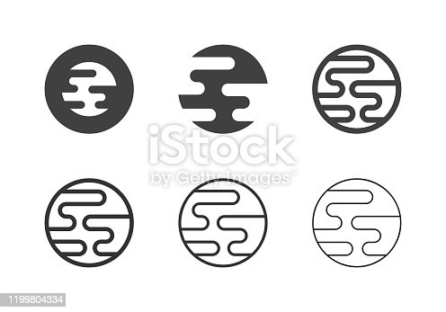 Planet Icons Multi Series Vector EPS File.