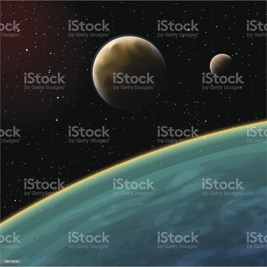 planet in space royalty-free stock vector art