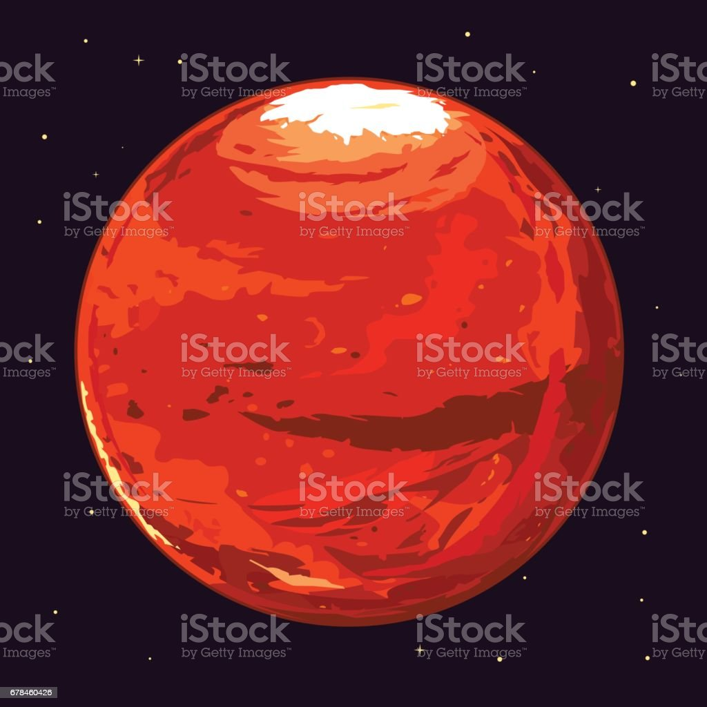 Planet Mars royalty-free planet mars stock vector art & more images of cartoon
