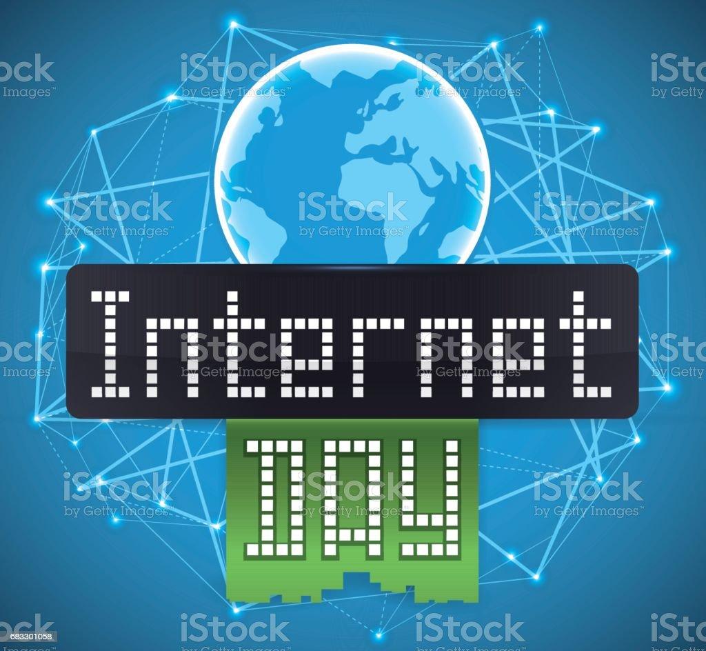 Planet över digitala anslutningar, skärmen och menyfliksområde för Internet Day royaltyfri planet över digitala anslutningar skärmen och menyfliksområde för internet day-vektorgrafik och fler bilder på affisch