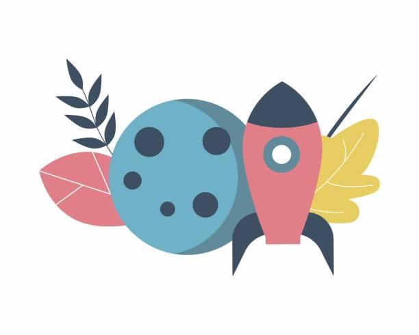 ilustrações de stock, clip art, desenhos animados e ícones de planet, rocket and autumn leaves, school icon - teacher school solo