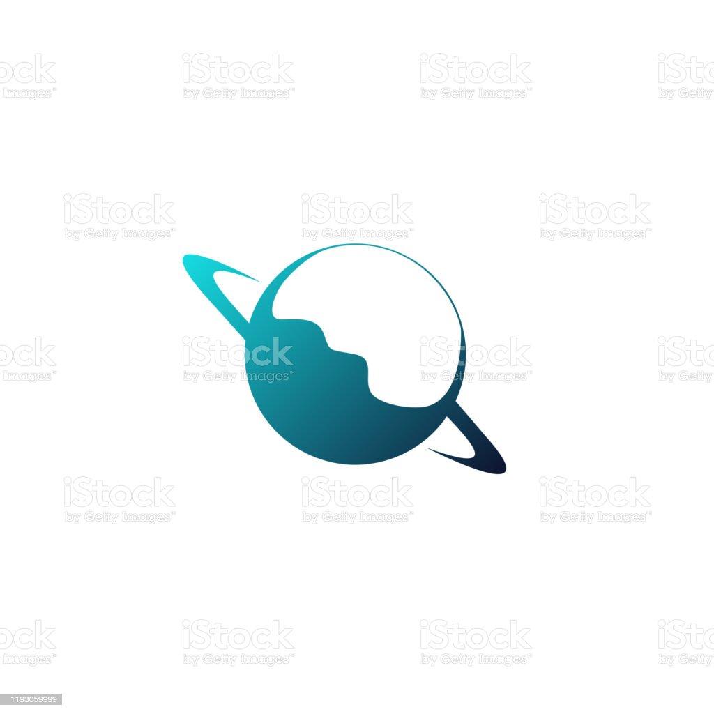 Beyaz arka plan üzerinde Planet Satürn illüstrasyon - Royalty-free Animasyon karakter Vector Art