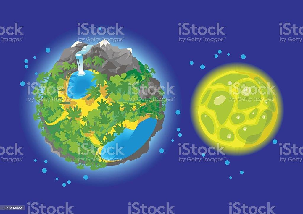 Planet set 1. royalty-free stock vector art