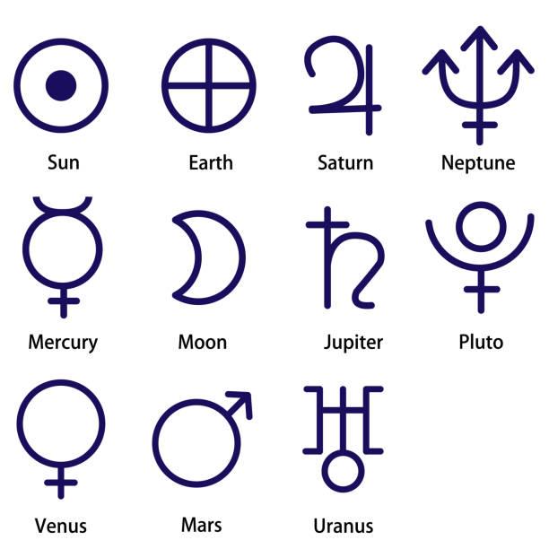 Planet symbol vector art illustration