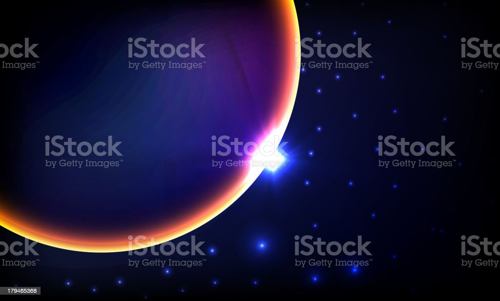 planet with sunrise on the background royalty-free planet with sunrise on the background stock vector art & more images of abstract