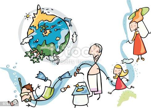 istock Planeta tierra, mundo acuatico 97641147