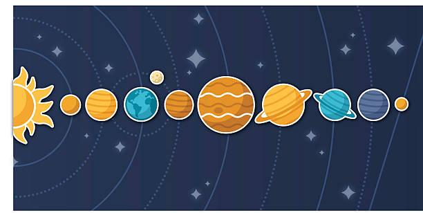 планет солнечной системы и - venus stock illustrations