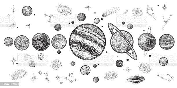 Planets and space hand drawn vector illustration solar system with vector id934706940?b=1&k=6&m=934706940&s=612x612&h=xil6mteiwm8kgx9683pyn9ixxhq8w7qoel sightvoi=
