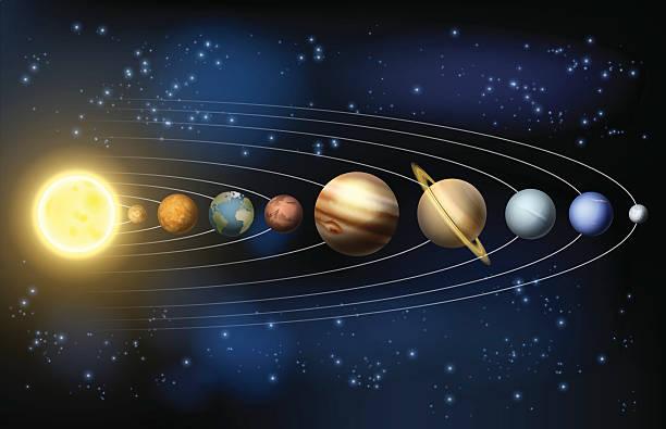 планет солнечной системы - venus stock illustrations