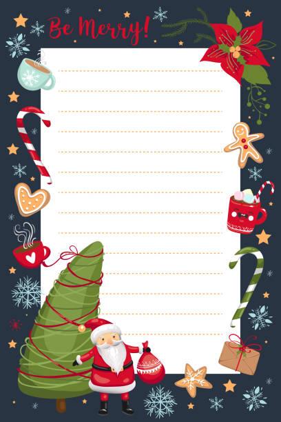 Best Christmas Wish List Design Blank Illustrations Royalty