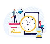 istock Planner schedule calendar time timetable concept. Vector flat graphic design illustration 1182304971