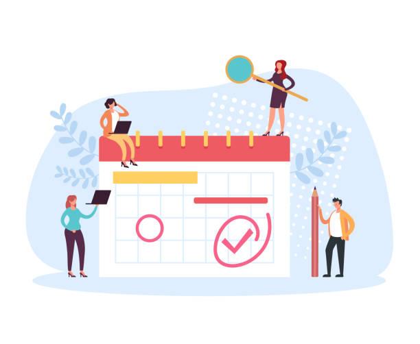 Planner schedule organizer concept. Vector flat cartoon graphic design illustration vector art illustration