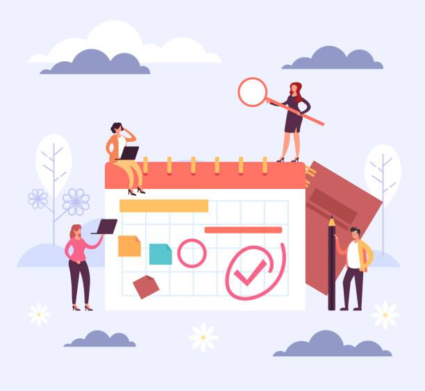 Planner schedule timetable reminder organizer concept. Vector flat cartoon graphic design illustration vector art illustration