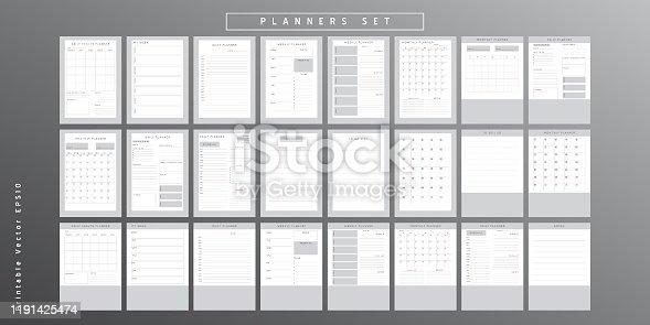 istock Planner sheet vector 1191425474