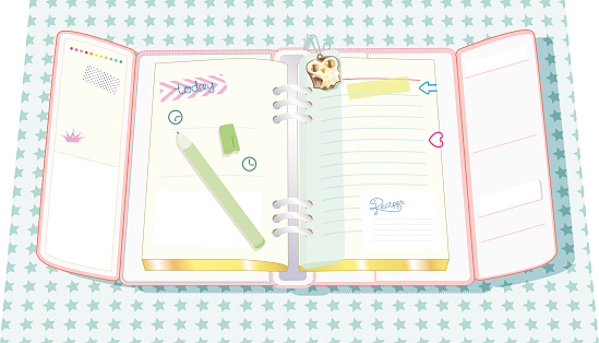 planner with clinger