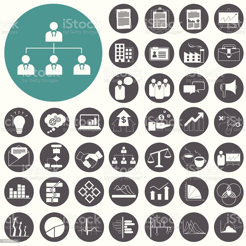 Planung und business-Strategie icons set.  Vektor-Illustration des ep – Vektorgrafik