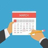 Planning calendar in hand.
