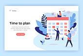 Planning concept illustration, perfect for web design, banner, mobile app, landing page, vector flat design