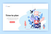 Planning concept illustration, perfect for web design, banner, mobile app, landing page, vector flat design