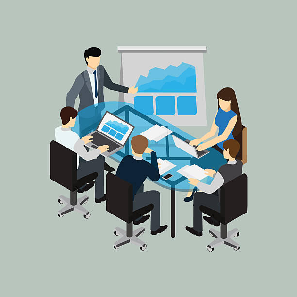 Best Diverse Business Meeting Illustrations, Royalty-Free