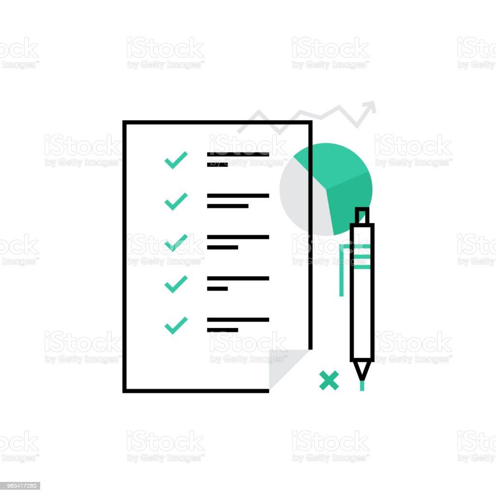 Planification Monoflat icône - clipart vectoriel de Abstrait libre de droits