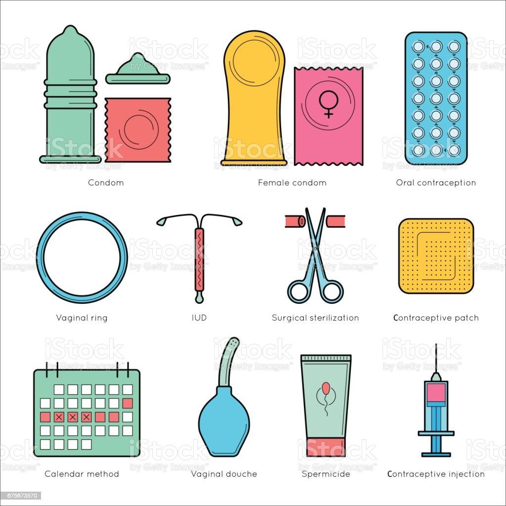 妊娠と避妊を計画します。 ベクターアートイラスト