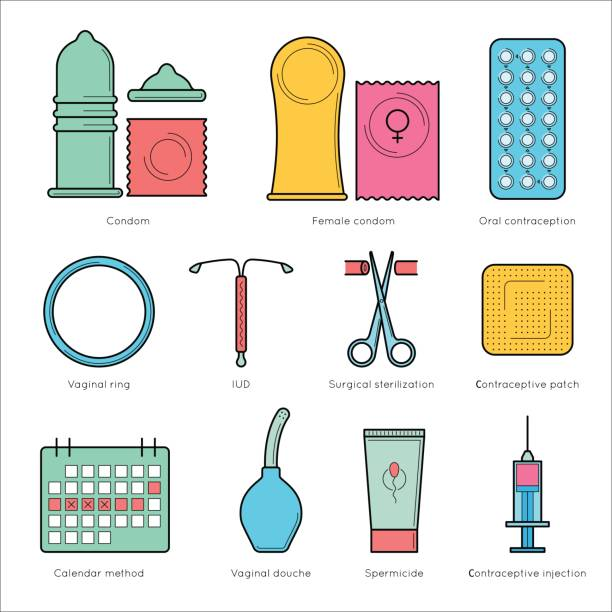 planning pregnancy and birth control. - family planning stock illustrations, clip art, cartoons, & icons