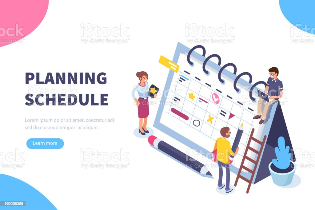 planning schedule royalty-free planning schedule stock illustration - download image now