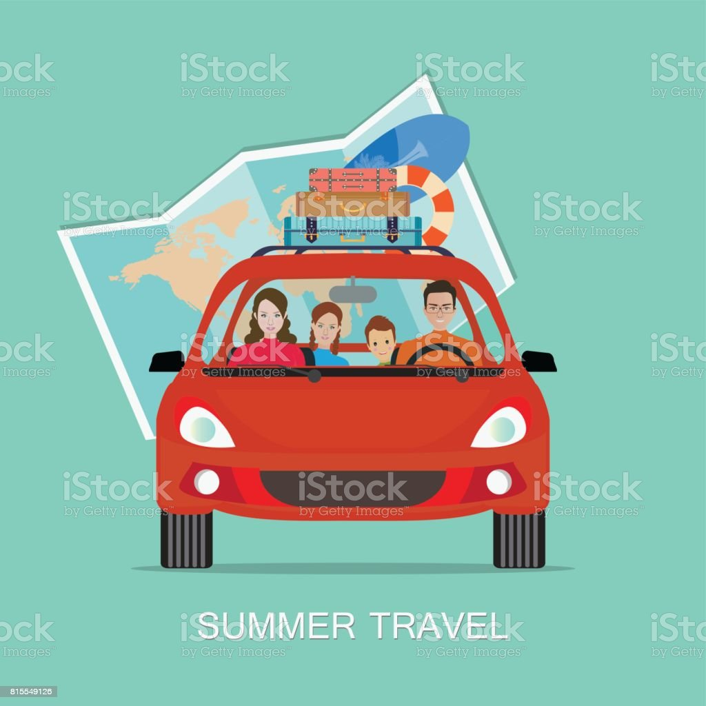 Sommer Urlaub planen – Vektorgrafik