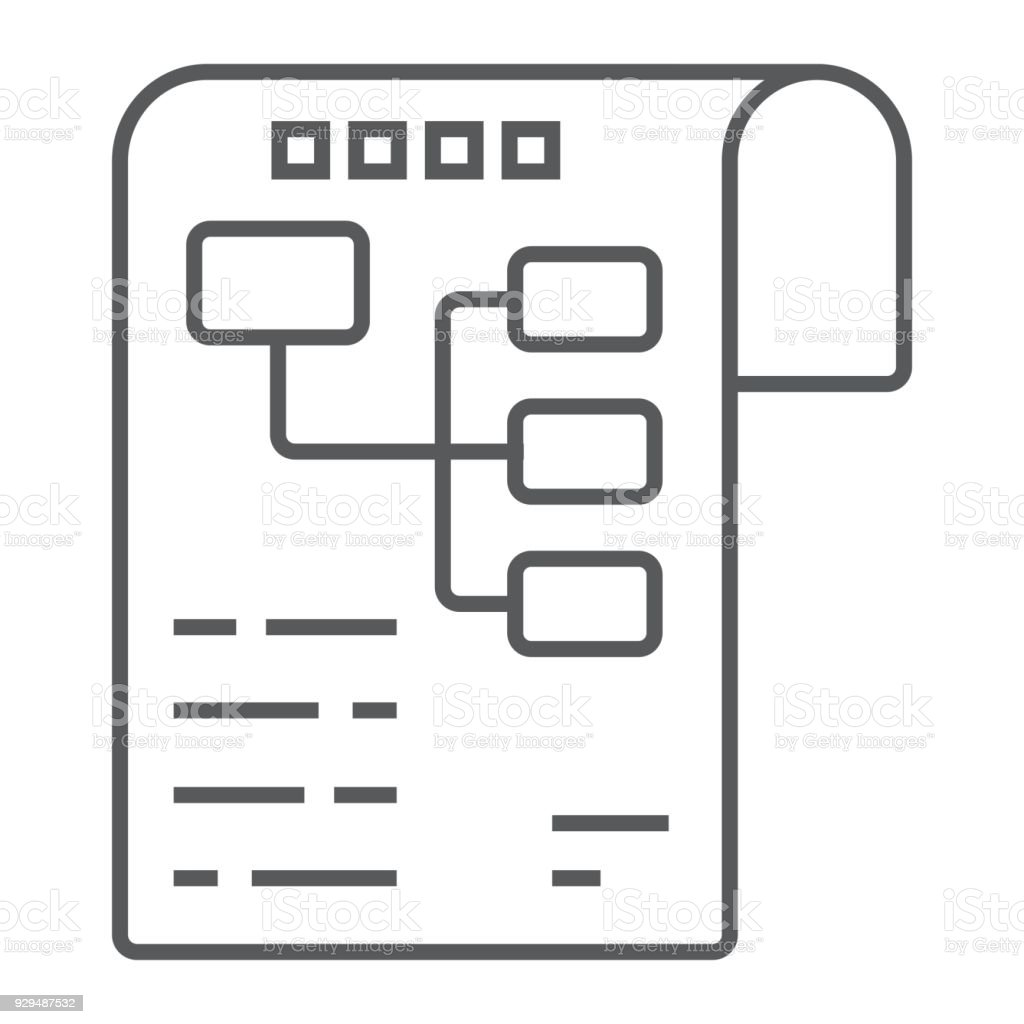 Planning Thin Line Icon Development And Business Business Plan Sign